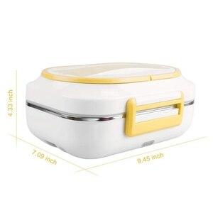Image 2 - Portatile Scatola di Pranzo Elettrica Auto con 12V Uso Domestico Riscaldatore Elettrico con Staccabile In Acciaio Inox Contenitore di Cibo Riscaldatore spina di UE
