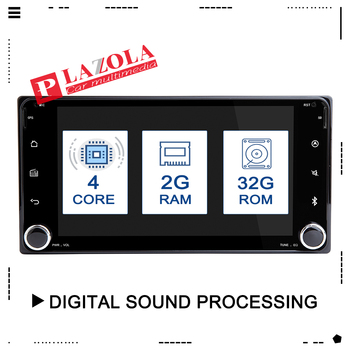 2din GPS Android 9.0 Car Multimedia Player For Toyota Land Cruiser 100 200 Prado 120 150 Rush Corolla Hiace Yaris HiluxCar Radio image