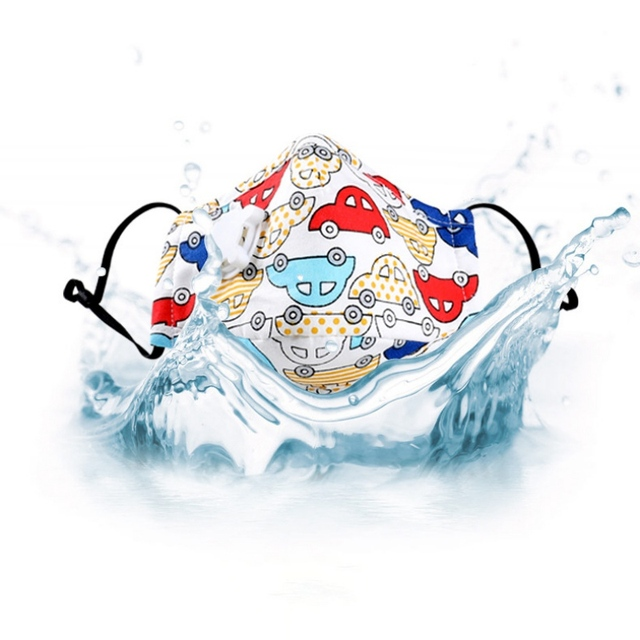Children Mask With Breath Design Replaceable Filter Anti Dust Mouth Mask PM2.5 Respirator Kids Face Mask 3