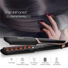 2 In 1 Haarglätter Professional Hair Curler Fernen Infrarot Curling Irons Led anzeige Breite Platte Flache Eisen Styling Werkzeuge 45