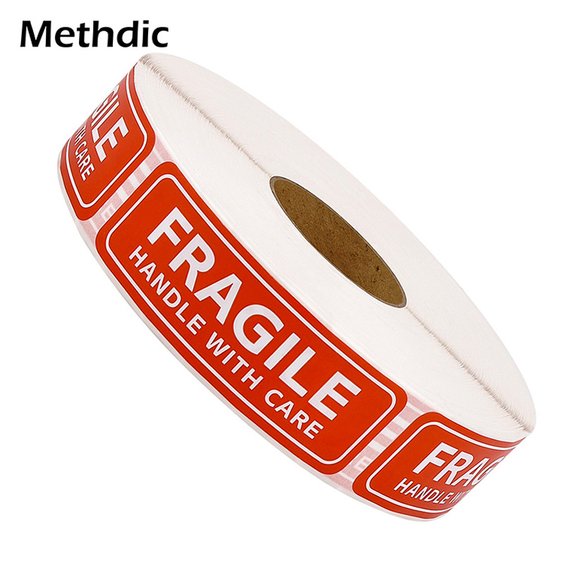 Methdic 2 Rolls Fragile Stickers Warning Label 1