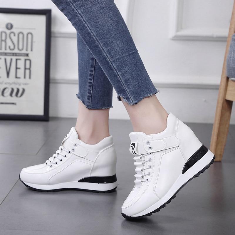 High Heel 6CM Black Sneakers Platform