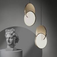 New Modern Pendant Light Nordic Designer Led Geometric Hanging Lamp Circle Iron Chrome Or Golden Light For Dining Room