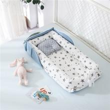 Портативная детская кроватка-гнездо для мальчиков и девочек, дорожная кровать, детская хлопковая Колыбель для новорожденных