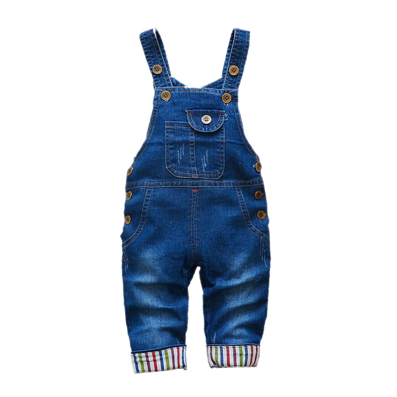 Children's Denim Overalls Baby Jeans Pants Baby Boys Girls Trousers Infant Clothing Toddler Babies Pants Little Kids 1-3 Years 6