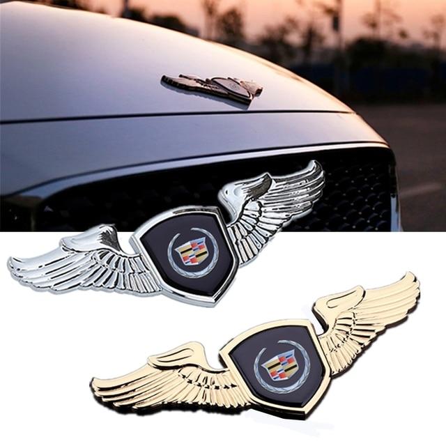 Auto Engine Bonnet Trim Emblem For Cadillac Seville XT4 CT4 SLR STS EXT CTS Escalade CT5 Coupe Car Front Badge Decal Accessories 1