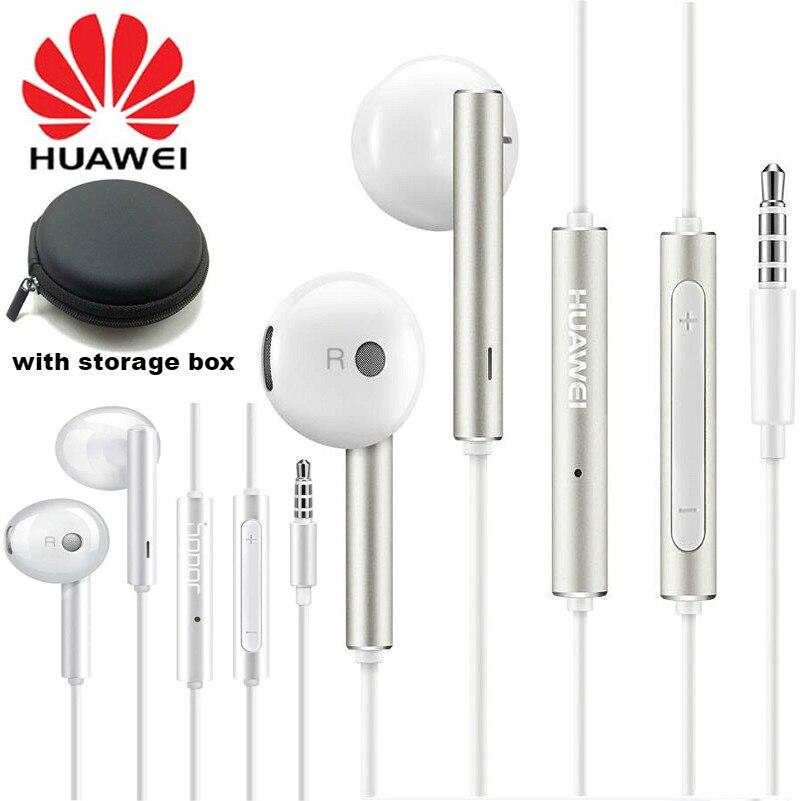 Оригинальные наушники Huawei Am116 Honor AM115, гарнитура с микрофоном 3,5 мм для смартфона HUAWEI P7 P8 P9 Lite P10 Plus Honor 5X 6X Mate 7 8 9
