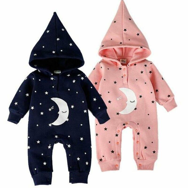 Двойни детская Зимняя Одежда для девочек и мальчиков; милые принты; зимние детские носки со звездами, луна, комбинезон с капюшоном, осень-зим...