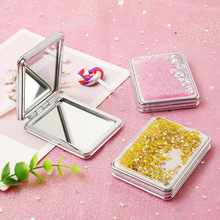 Creative small mirror lovely / girl heart cartoon double-sided portable cosmetic gift wholesale