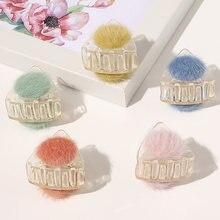 Заколки крабы для волос с шариками женские треугольные зажимы