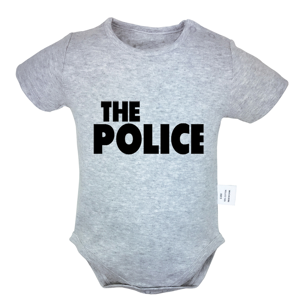 Rock Band Microphone Guitar Shelf Drum The Police Rock Band Newborn Baby Boys Girls Outfits Jumpsuit Infant Bodysuit Clothes