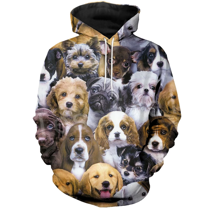 Tessffel Animal Cartoon Cute Dog Art Tracksuit Casual Harajuku 3D Print Hoodie/Sweatshirt/Jacket/Men Women New Fashion S5