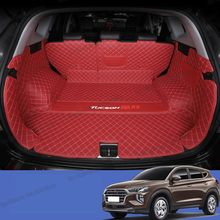 цена на Lsrtw2017 Fiber Leather Car Trunk Mat Cargo Liner for Hyundai Tucson 2019 2020 Rug Carpet Accessories Boot Sticker