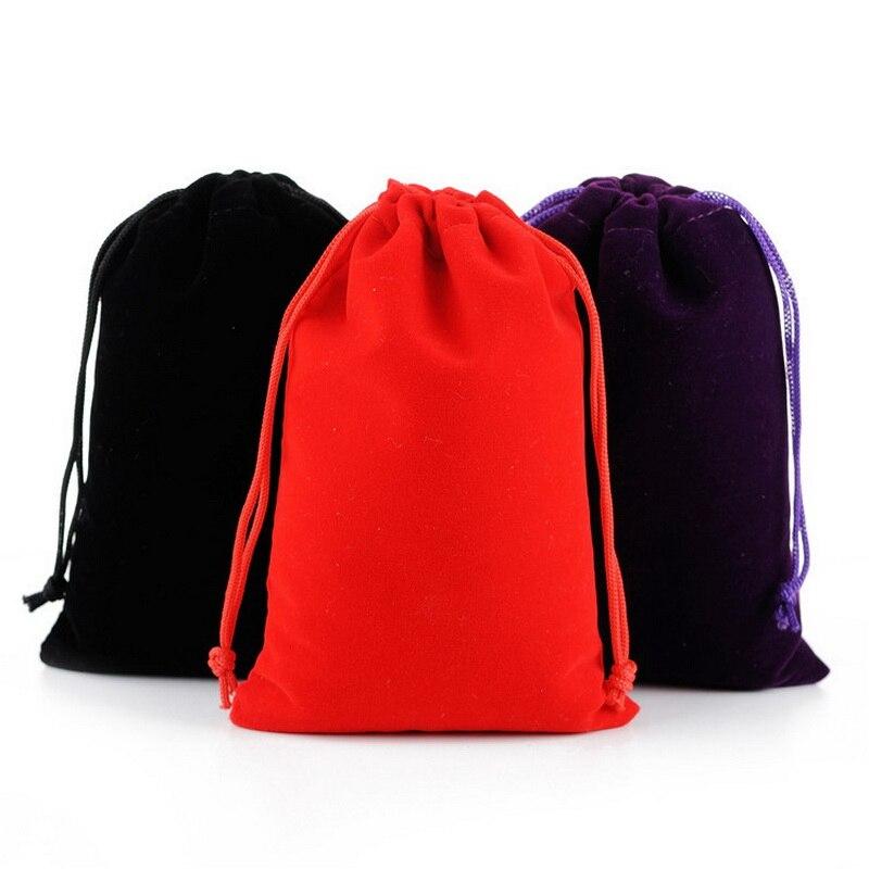 Velvet Bag Custom Velvet Pouch Logo Printed Drawstring Pouch Packaging Fabric Gift Bags 30*40cm