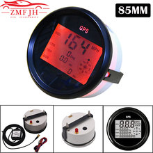 Speedometer-Gauge 85mm Gps-Antenna Boat Knots Motorcycle Universal Km/H with 9-32v/Car/Motorcycle/..