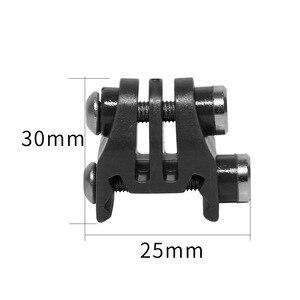 Image 5 - Actie Camera Nylon Rail Mount Vaste Adapter Voor Picatinny Airsoft Rifle Laser Mount Adapter Voor Gopro Eken