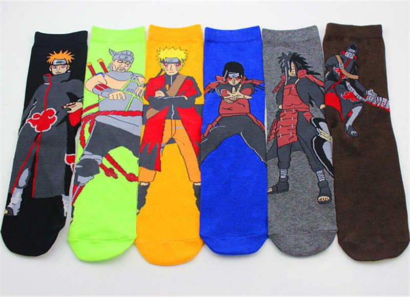 6 pairs Giappone Hokage Anime Naruto Uchiha Madara Modello Calzini e Calzettoni Cosplay Oggetti di Scena per la Mens Ragazzi del Cotone Calzino Regali Di Natale Nuovo