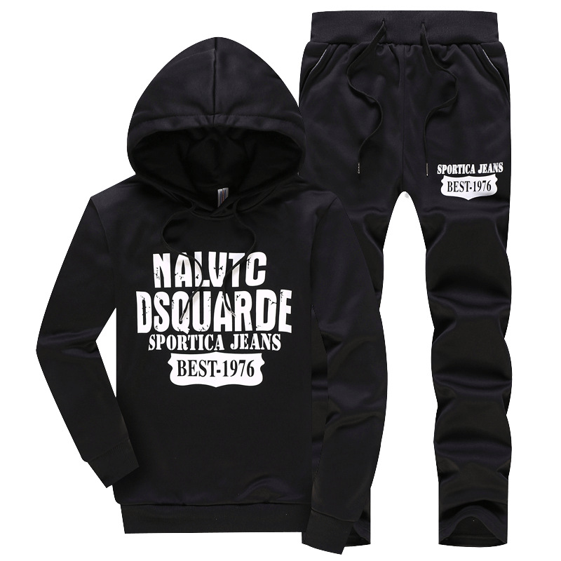 Sports Set Men's Autumn Fashion Hoodie Spring And Autumn Two-Piece Set Men Leisure Set
