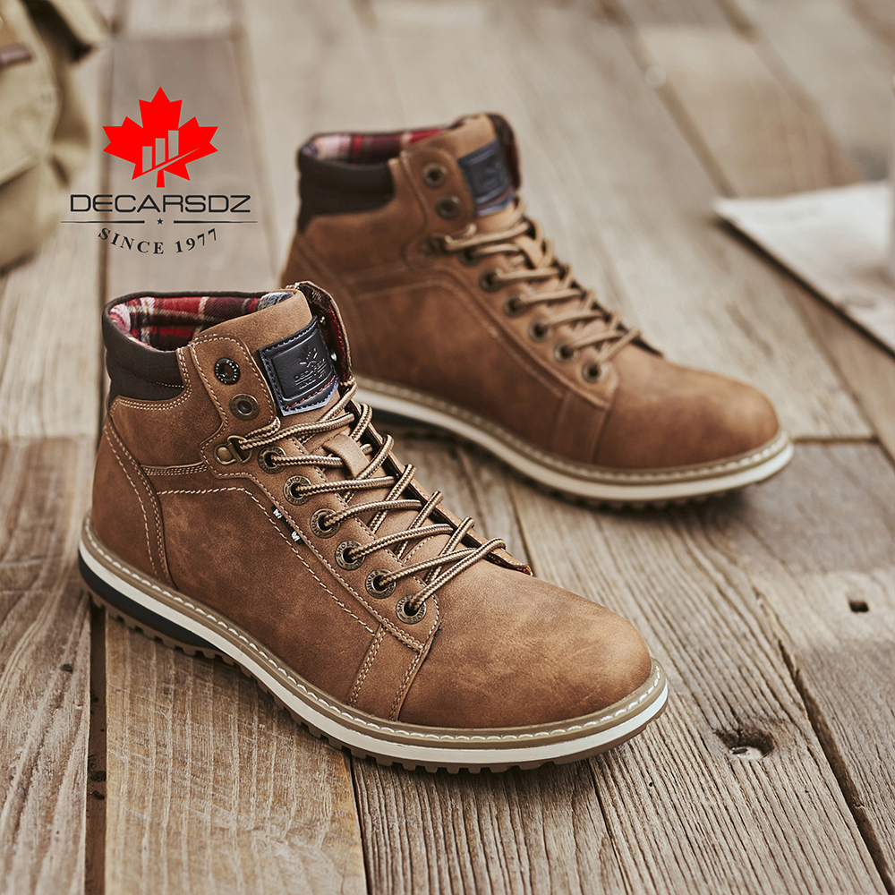 Shoes Men Boots Work Lace-Up Ankle-Botas Male Autumn Casual Fashion Brand Basic Comfy title=
