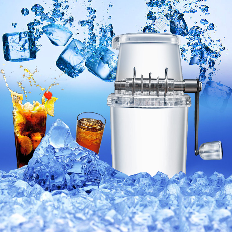 Manual Ice Crusher Smoothie Breaker Grinder Smoothie Ice Block Making Machine Ice Shaver Household Accessories image