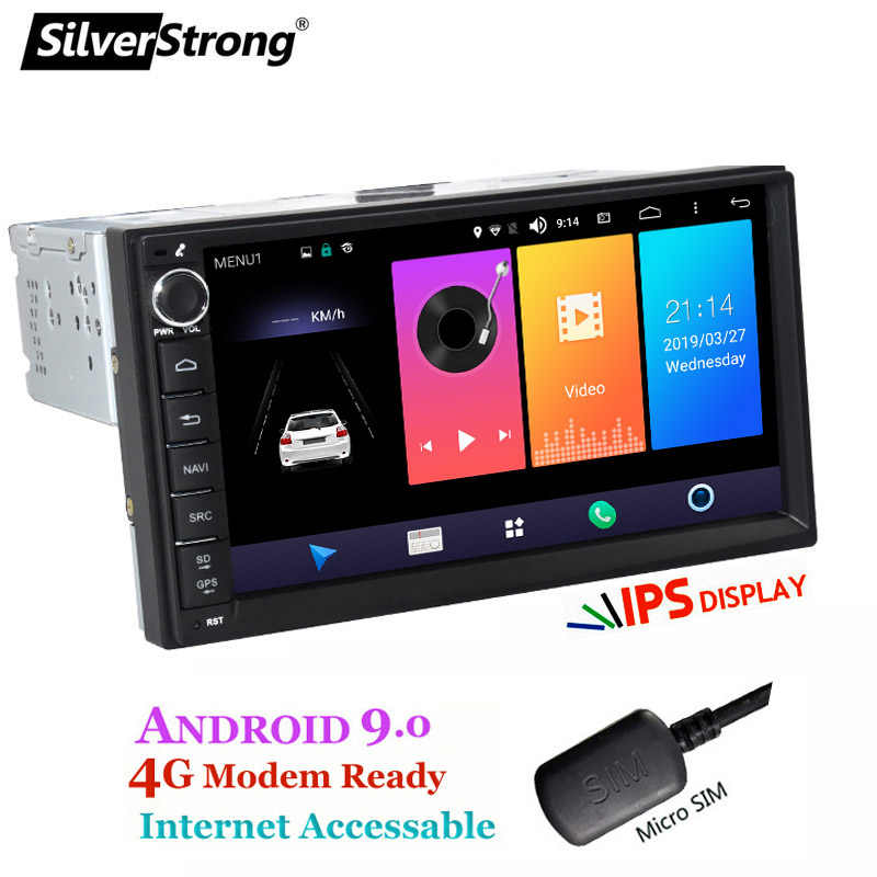 SilverStrong 2Din 4G โมเด็ม Universal 7 นิ้ว Android9.0-10 รถวิทยุ DVD สำหรับ LADA GRANTA 1Din ร่างกาย android GPS Navigation