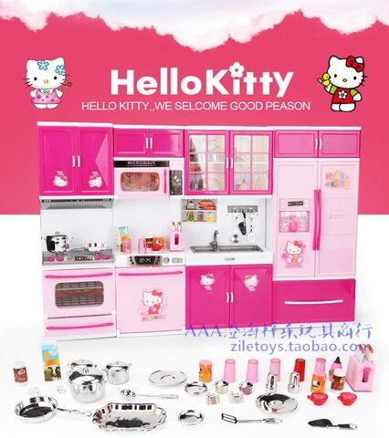 ola kitty cozinha brinquedos fingir jogar utensilios
