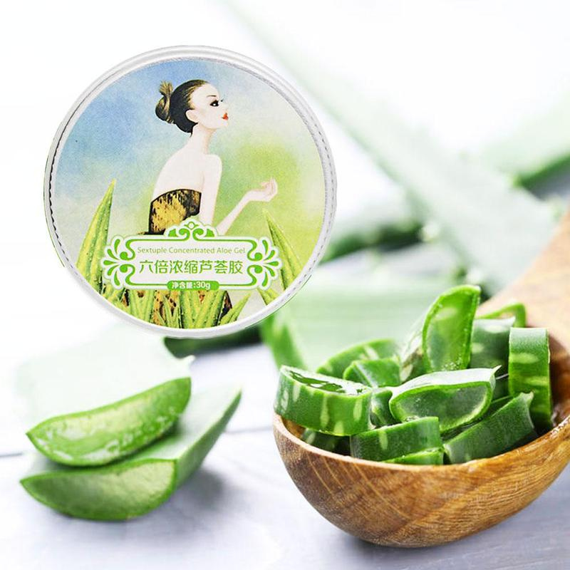 100% Pure Natural Aloe Vera Gel Smoothing Moisture Repair Cream Sunblock Face Acne Treatment Gel for Skin Repairing 30ml 2