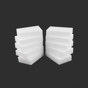 4PCX Melamine Sponge White Magic Sponge Eraser Melamine Cleaner Multi-Functional Eco-Friendly Kitchen Magic Eraser 100*60*20mm