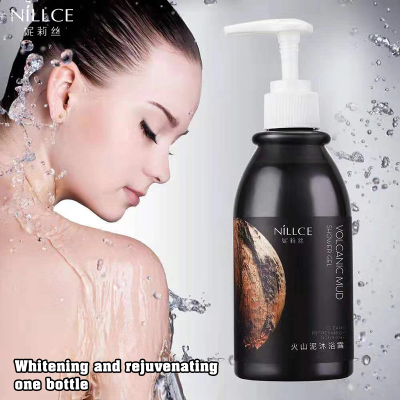 NILLCE Shower Gel 250ml Whole Body Wash Skin Whitening Deep Clean Skin Moisturizing Exfoliating Body Care Bath Gel Oil