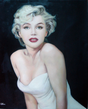 Hand-painted Marilyn Monroe Wall Décor Painting Monroe Wall Art  for Living Room Bedroom Office Home decoration