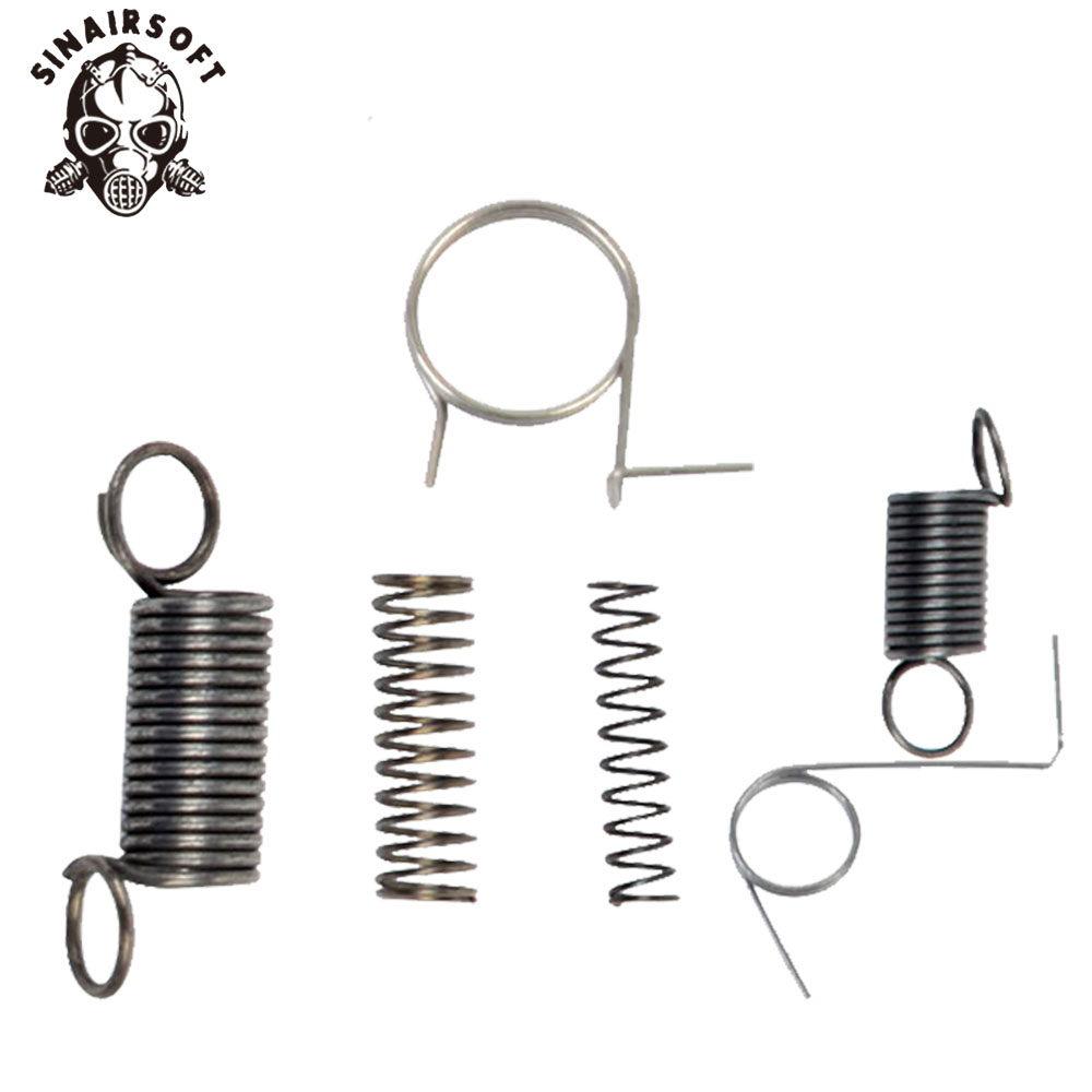 SINAIRSOFT SHS Full Steel Gearbox Spring Set For Shooting Target Paintball Air Gun Hunting Airsoft AEG Ver. 2 3 7 Free Shipping