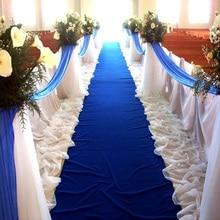 Проход бегунов Свадебные аксессуары королевский синий свет проход ковровая дорожка коврики для шаг и повторить Дисплей церемонии праздников и мероприятий в помещении