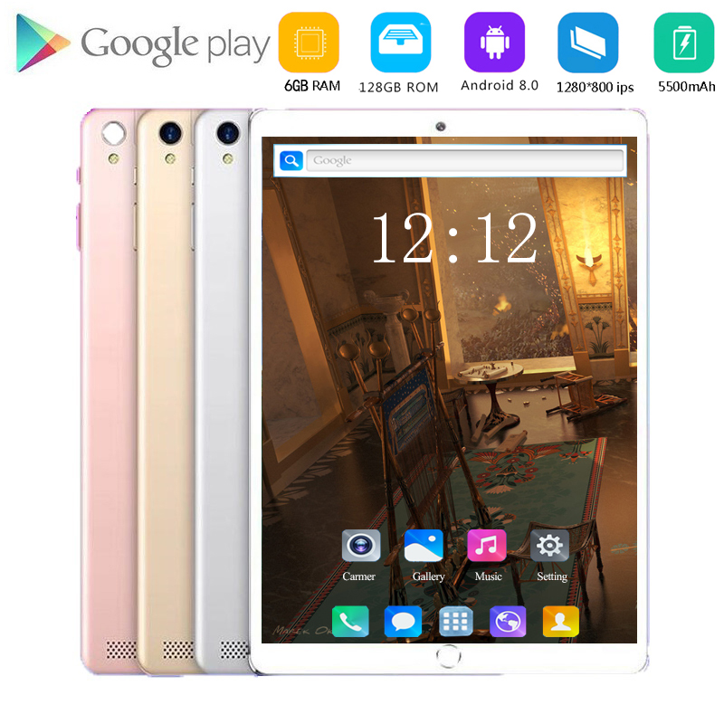 2020 Best-selling 10 Inch 4G LTE Phone Call Tablet Pc Android 8.0 Octa Core 6GB+128GB CE Brand Dual SIM Card 10.1 WiFi Tablets