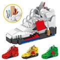 16 см новая спортивная баскетбольная обувь, строительные блоки, кроссовки, модель, ручка, контейнер, кирпичи, пенал, игрушки для детей, «сдела...