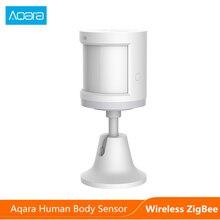 Sensor de movimento aqara original, conexão zigbee de indução de corpo humano doméstico para xiaomi mi, dispositivo de segurança