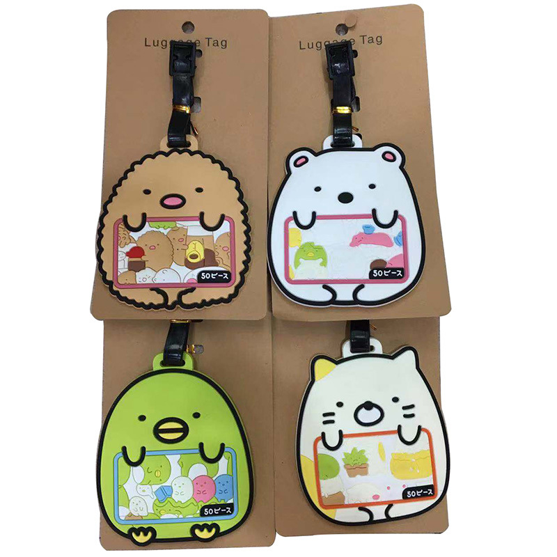 Travel Accessories Sumikko Luggage Tag Animal Cartoon Silica Gel Suitcase ID Addres Holder Baggage Boarding Tags Portable Label
