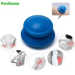 Povihome 2 шт., силикон для здоровья, вакуумные банки, чашки для массажа шеи, лица, спины, чашки для расслабления всего тела, массажная банка