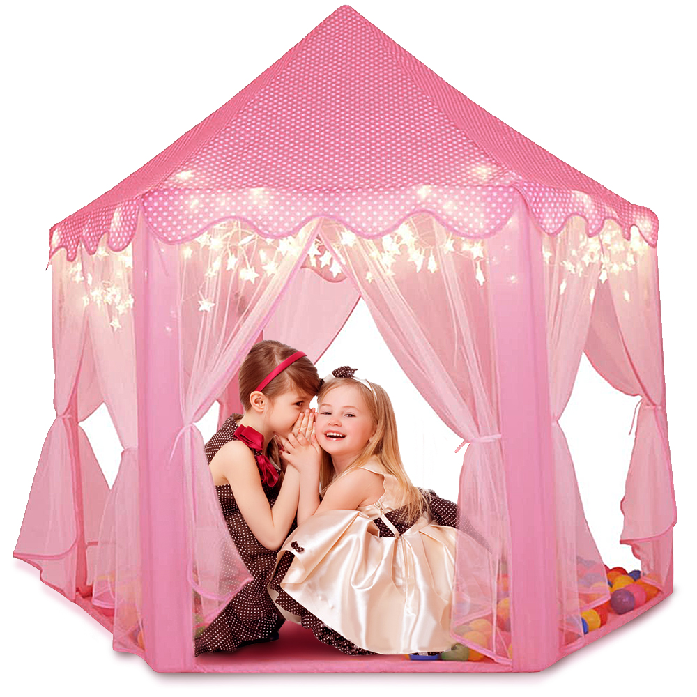 Kids Kent Children Play House Foldable Princess Castle Girl Play House Big Size Mongolian Tent Princess Castle Playhouse