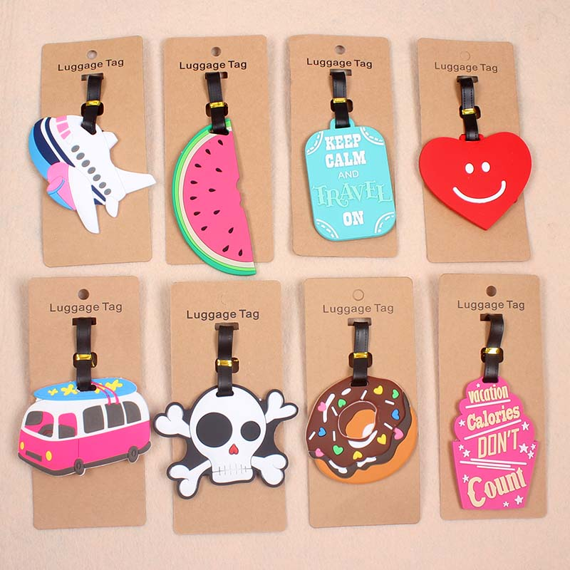 Cute Plane Watermelon Luggage Tag Travel Accessories Silica Gel Suitcase ID Addres Holder Baggage Boarding Tag Portable Label