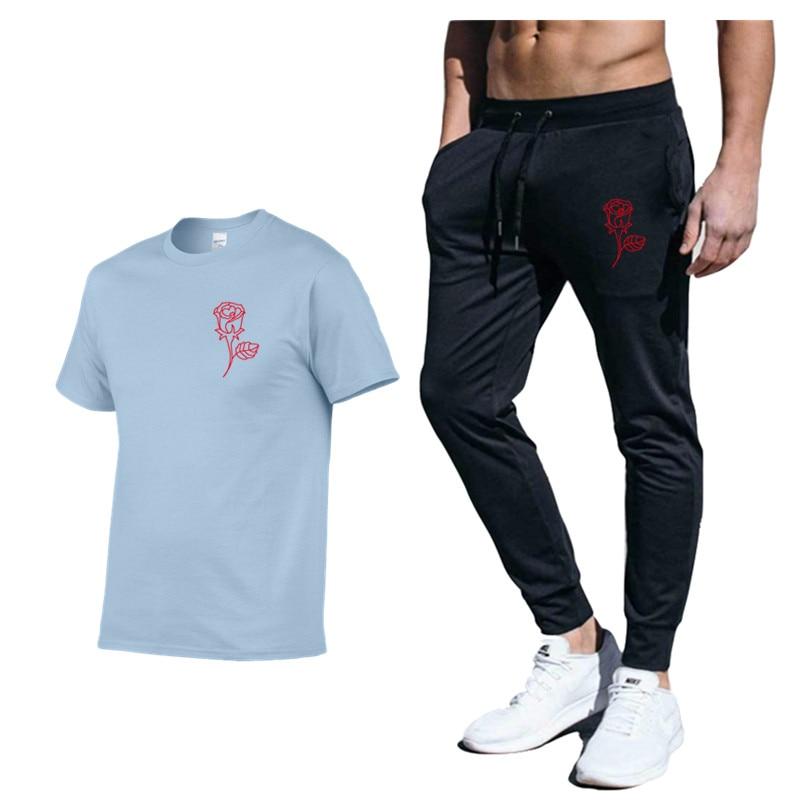 Payton Moormeier Merch Printed 2 Pieces Sets Tracksuit Men New Brand Cotton Sports Suit T-Shirt Trousers Sets Funny Sportswear