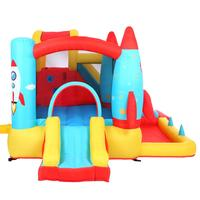 Rocket Inflatable Castle Oxford Cloth Jump Surface With UL Certified Air Blower