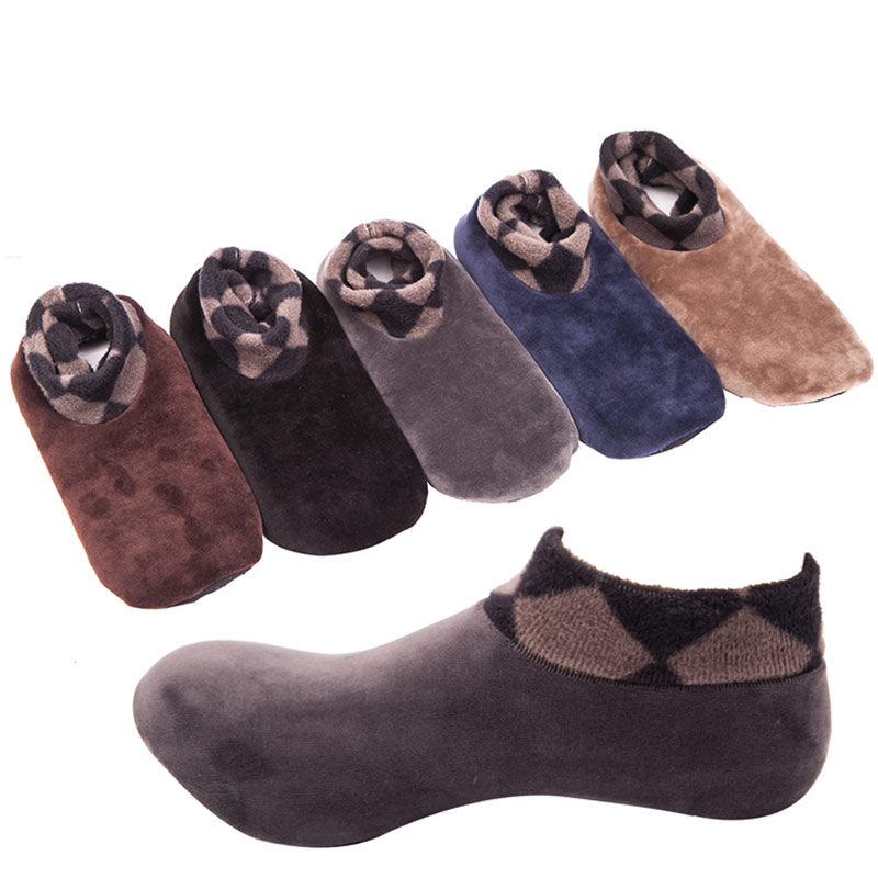 Men Women Thicken Winter Warm Socks Non Slip Indoor Floor Soft Casual Slipper Hosiery GDD99