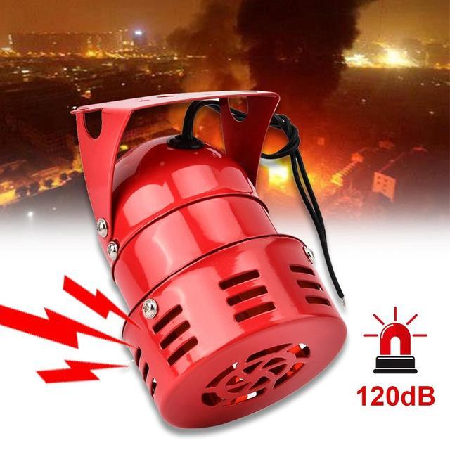 Sirènes à moteur électrique, 120db, alarme entraînée, alarme forte, 24V 240V, en option
