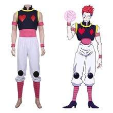 Costume de Cosplay Hisoka pour adultes, uniforme, gilet, pantalon, Costume fantaisie de fête de carnaval d'halloween