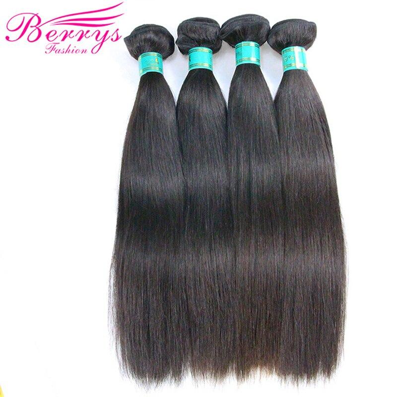 Brazylijski dziewiczy włosy proste 4 wiązek za dużo nieprzetworzone ludzkie włosy przedłużanie włosów pokój maszyna wątek Berrys moda do włosów w 3/4 pasma od Przedłużanie włosów i peruki na AliExpress - 11.11_Double 11Singles' Day 1