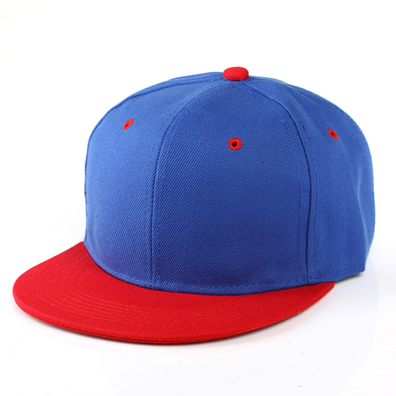 Man Baseball Cap Hip Hop Flat Brim Hat Fashion Denim Cotton Bonnets For Women Adjustable Hats Solid Color Unisex Baseball Cap