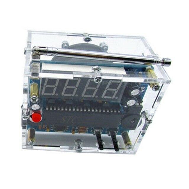 FM radyo pratik hoparlör elektronik kiti hediye 4.5V 5.5V Mini dijital şeffaf 8ohm ses DIY lehimleme Stereo ev alıcısı