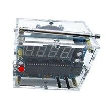 Rádio fm prático alto falante eletrônico kit presente 4.5v 5.5v mini digital 8ohm transparente som diy receptor casa estéreo de solda