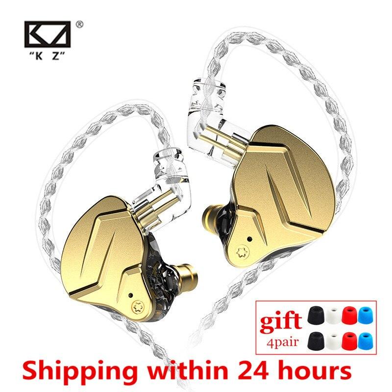Гибридные наушники-вкладыши KZ ZSN PRO X 1DD + 1BA, HIFI DJ монитор, металлические наушники для бега, спортивные наушники KZ EDX ZAX ZSTX ZSX ZS10 PRO ZSNPRO CA16