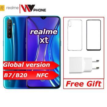 Купить Realme xt глобальная Версия Мобильный телефон 6,4 ''полный экран Snapdragon 712 AIE 64MP камера NFC OPPO сотовый телефон VOOC
